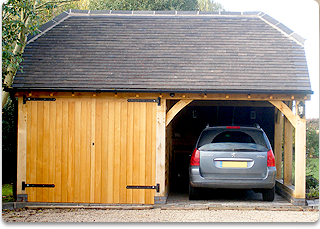 label Beadmans as a 2 bay garage with half hipped roof